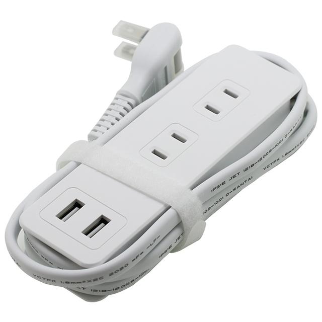 USBポート付きコードタップType-A×2/AC×4